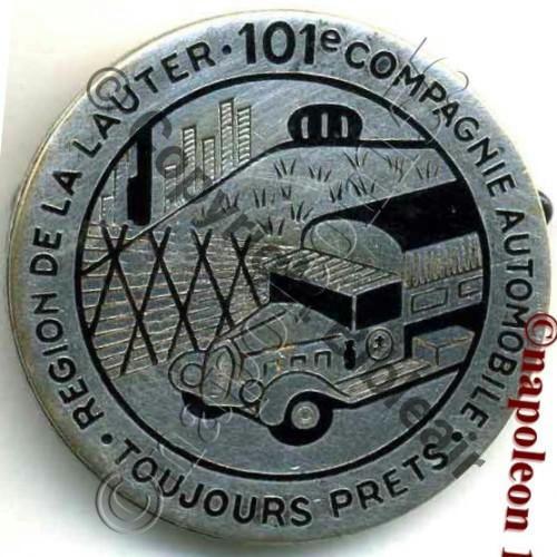 101e Cie AUTOMOBILE FORTERESSE region LAUTER AB.P Dep poincon relief Bol Poinconne Dos irreg Sc.STELLA 255Eur(x2)